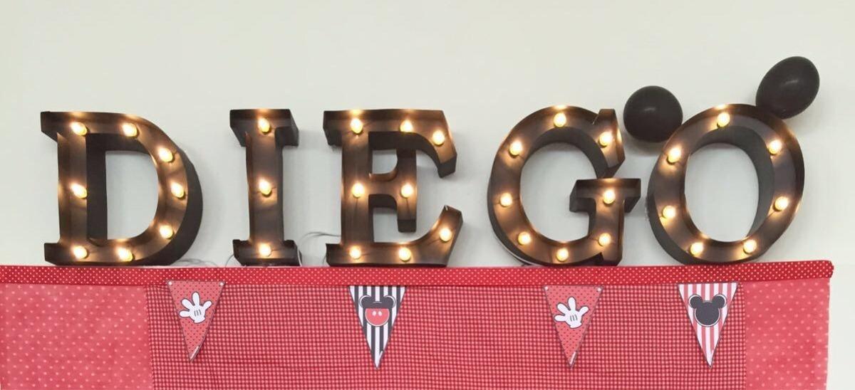 Letras decoraci n mesa de dulces iluminadas k 39 iin deko for Letras luminosas decoracion