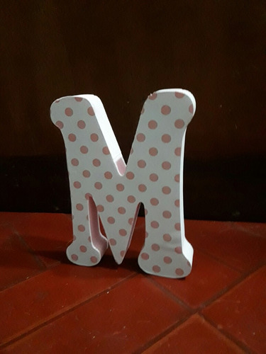 letras decoradas candy bar en polyfan 20 cm de alto.