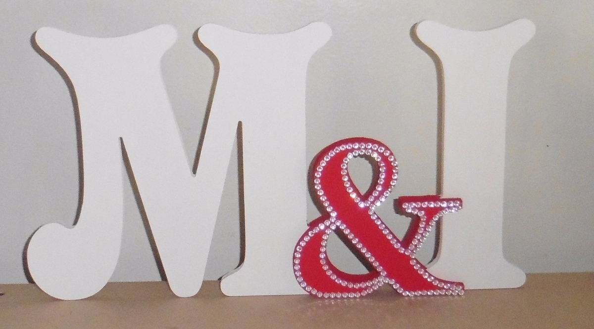 Letras Decoradas Ideal Bodas Casamiento Candy Bar - $ 200,00 en ...