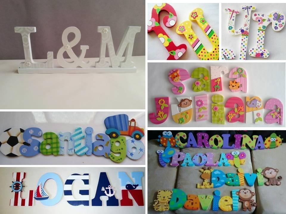 Letras decoradas infantiles juegos decoracion cuarto ni os - Letras para habitaciones infantiles ...