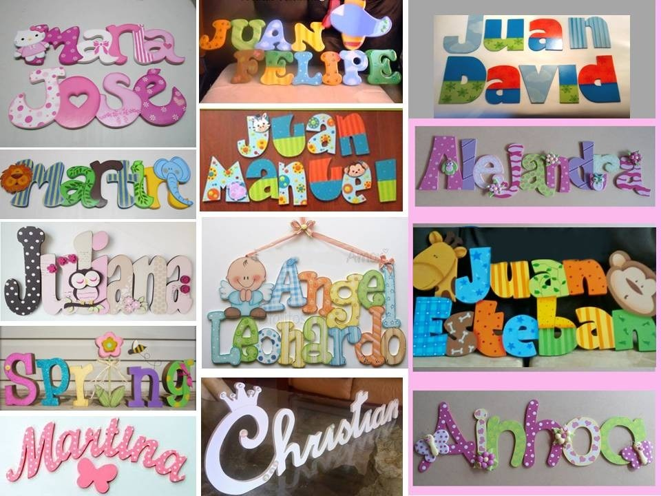 Letras decoradas infantiles juegos decoracion cuarto ni os for Decoracion en pared para ninos