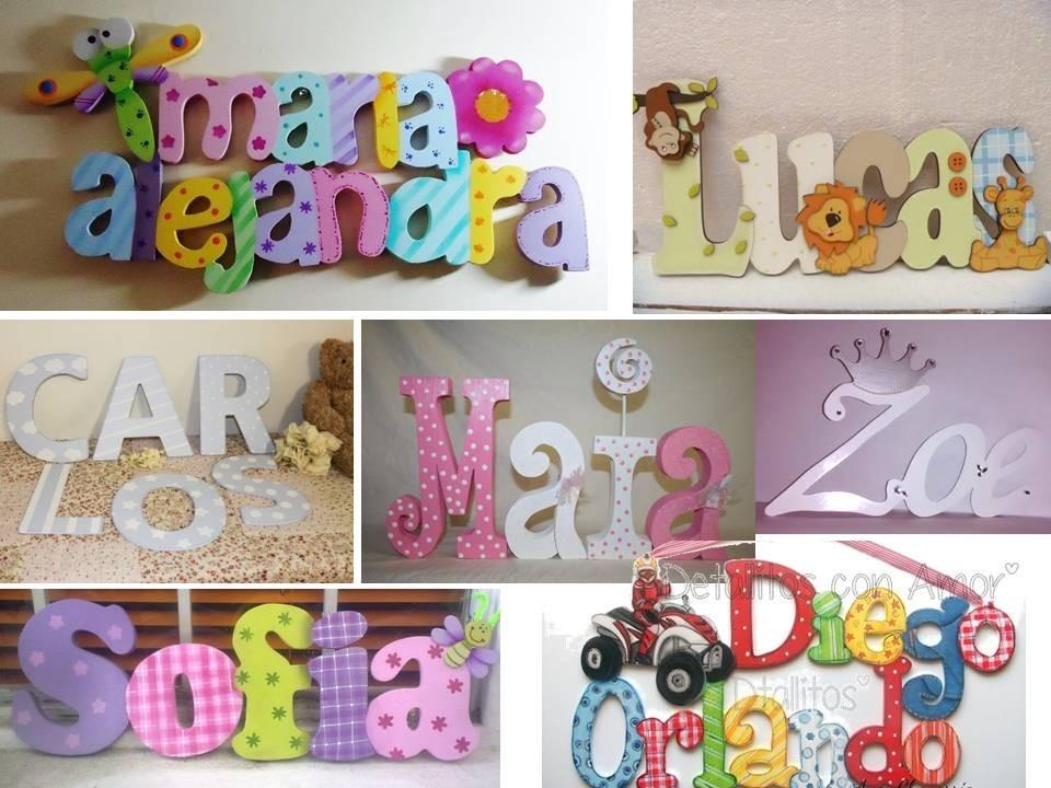 Letras Decoradas Infantiles Juegos Decoracion Cuarto Nios Bs