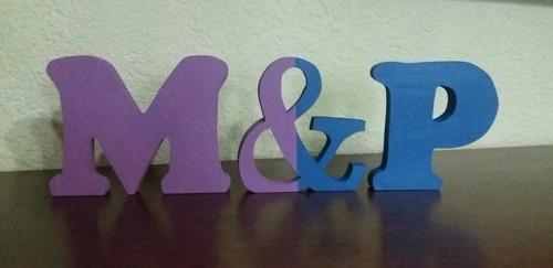 letras decorativas 12 cm