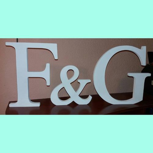 letras decorativas en madera 15 cm