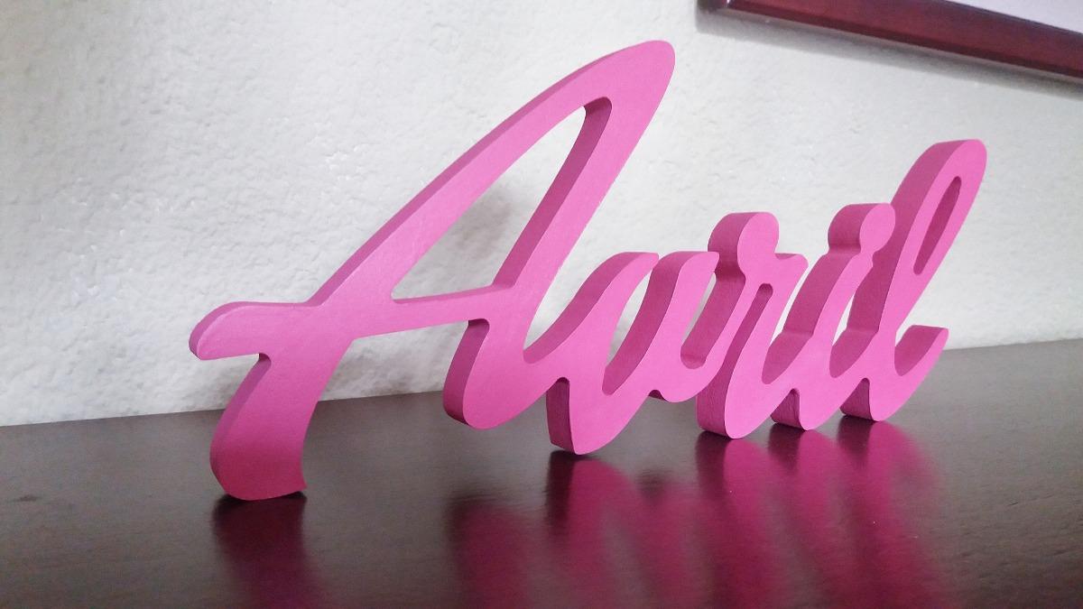 letras decorativas en madera cm
