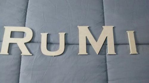 letras decorativas en mdf - trupan
