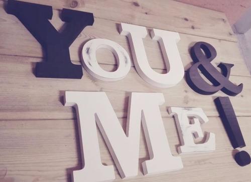 letras decorativas madera amor regalo recamara