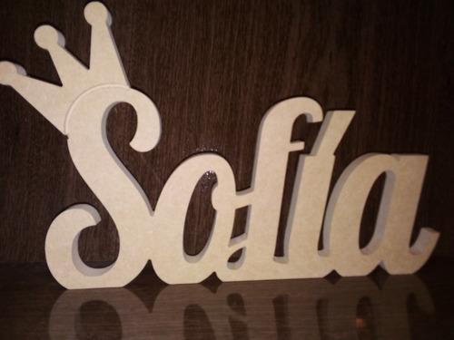 letras decorativas - nombre en madera -  e n v i o s