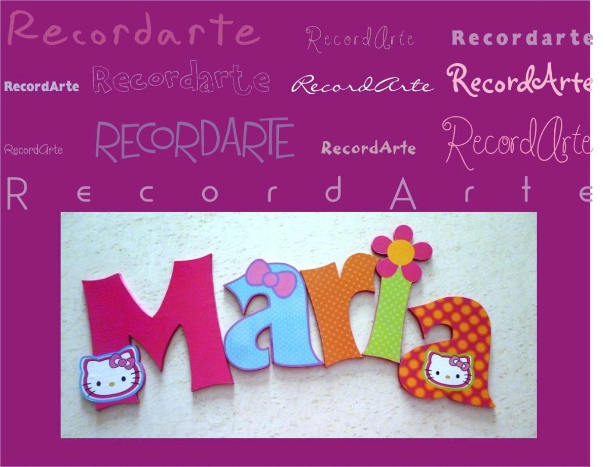 Letras decorativas para el cuarto de los bebes - Letras habitacion bebe ...