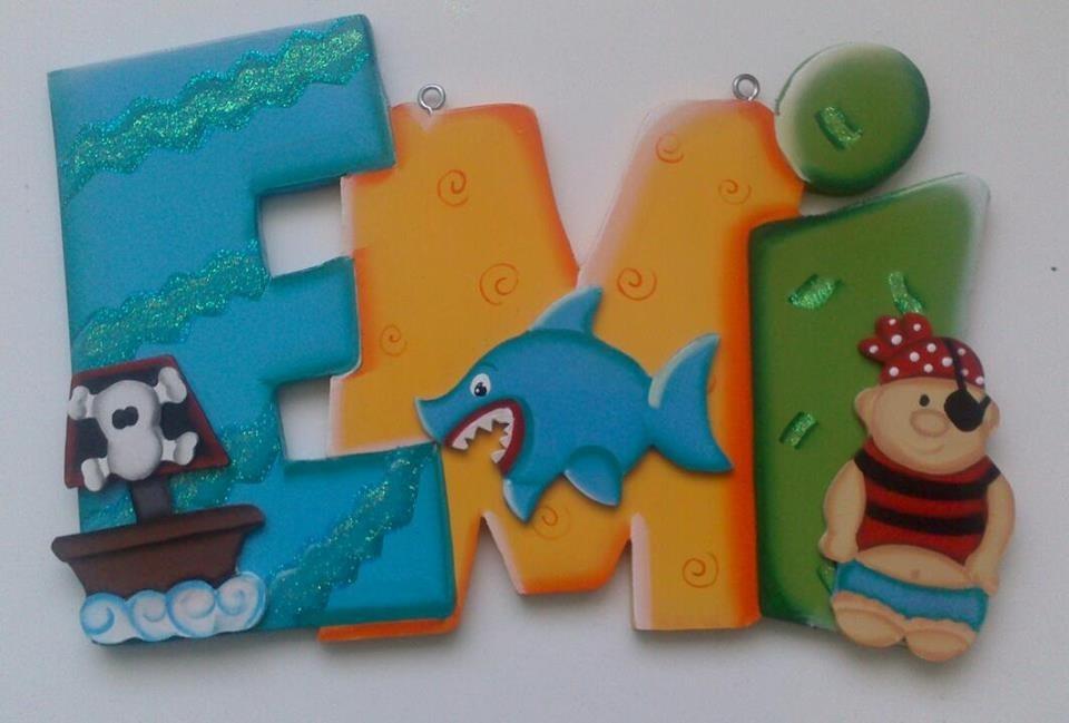 Letras decorativas para recamaras de ni os en - Letras decorativas para ninos ...