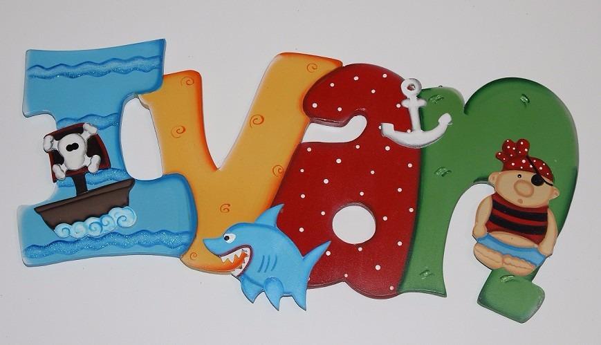 letras decorativas para recamaras de nios