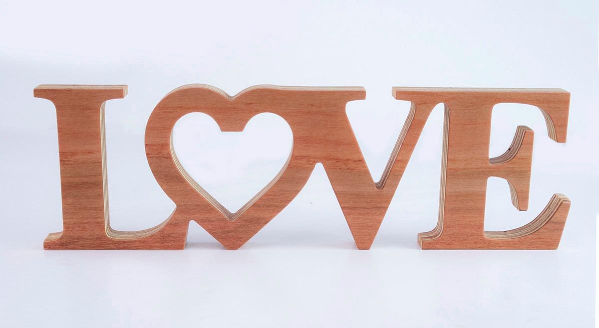 Letras decorativas texto love en madera en mercado libre - Letras de madera decorativas ...