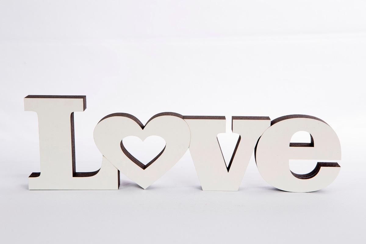 Artesanato Significado ~ Letras Decorativas palavra Completa Em Mdf Love Corte Laser R$ 30,00 em Mercado Livre