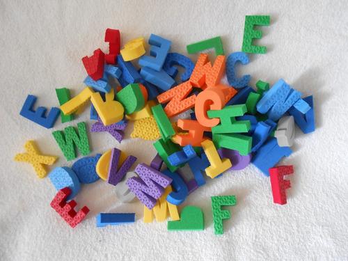 letras  em eva   com 104 pçs