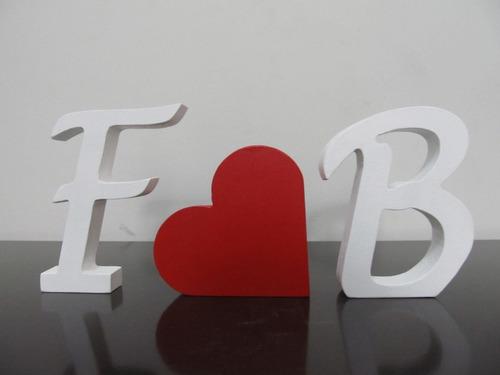 letras em mdf com iniciais nome dos noivos! decoração!