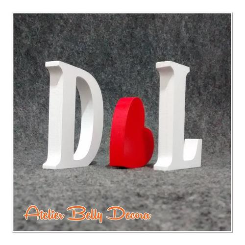 letras em mdf pintado 18 mm coração decoração festa