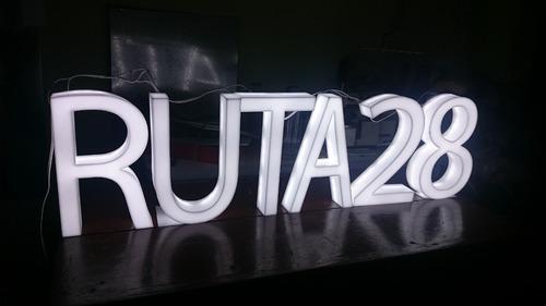 letras en 3d cajas de luz