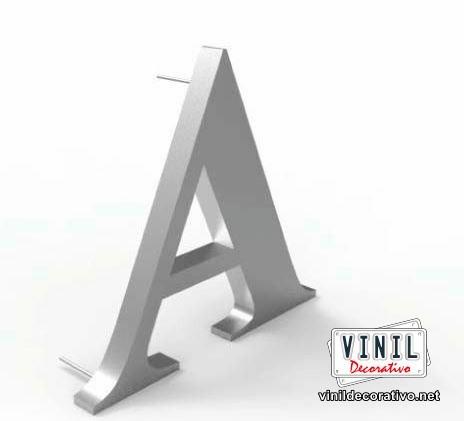 letras en acero, letras luminosas en 3d, letras económicas