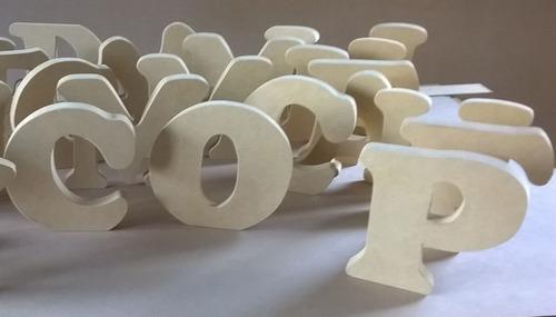 letras en madera -mdf-  16 cm x 18 mm . para decoración