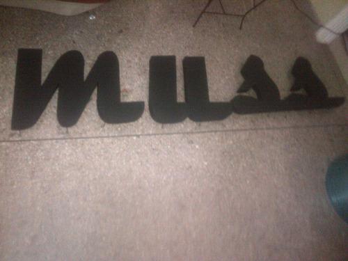 letras en metal, acero inoxidable, plastico y bronce