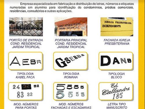 letras, fichas, números e placas sinalização