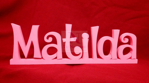 letras figuras 30 cm pintadas 2 cm polyfan diseños a pedido