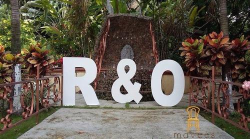 letras gigantes bodas xv años todo evento