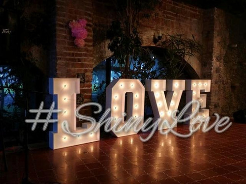 letras gigantes iluminadas para bodas y xv años