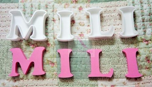 letras huecas 16 cm+letra corporea regalo!!! polyfan