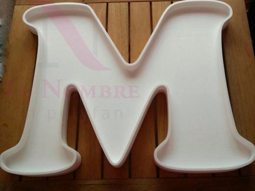 letras huecas 60 cm - polyfan tunombreimporta - corporeas