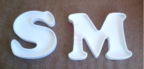 letras huecas figuras 40 cm 3d polyfan centro mesa souvenirs