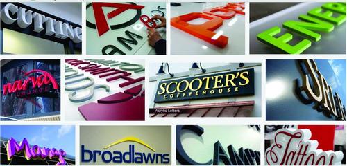 letras, logos y carteleres corporeos de acrilico