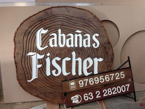 letras, logos y letreros tallados de madera natural y mdf