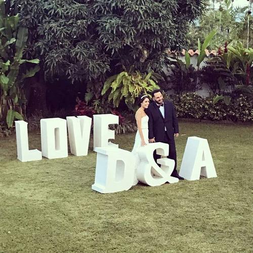 letras love.alquiler para bodas