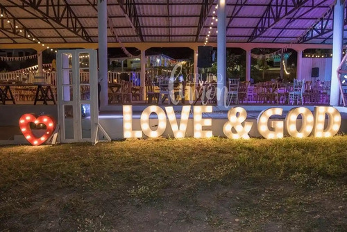 letras luminosas, decoracion 15 años, matrimonios, fiestas