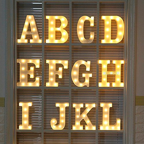 letras luminosas led  decoracion adorno centro mesa boda