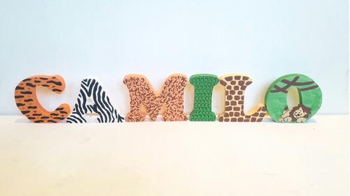 letras maciza en madera decoradas