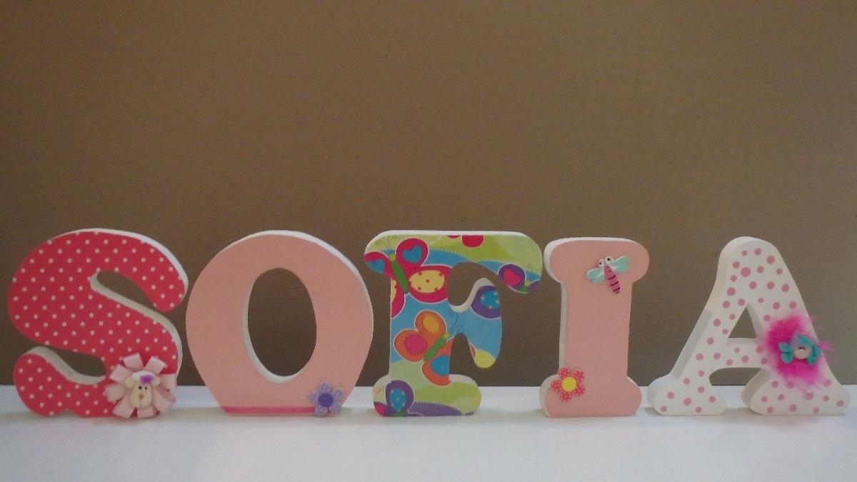 Letras mdf decoradas a su gusto bs 890 00 en mercado libre - Letras decoradas infantiles ...