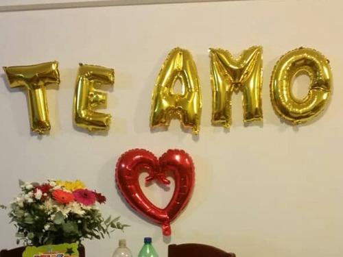 letras metalizadas globos love baby shower cumpleaños
