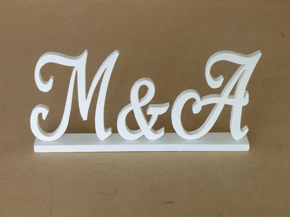 Letras nombres en madera mdf 15cmx12mm candy bar bodas for Fabricacion de muebles mdf