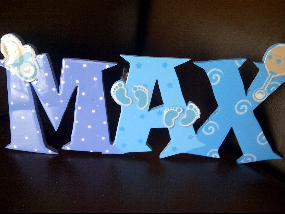 Letras nombres en madera mdf decorados en - Letras de nombres para decorar ...