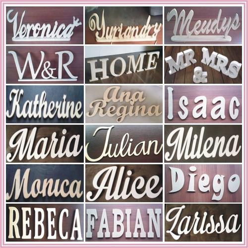 letras nombres en madera mdf números logos siluetas 24 horas