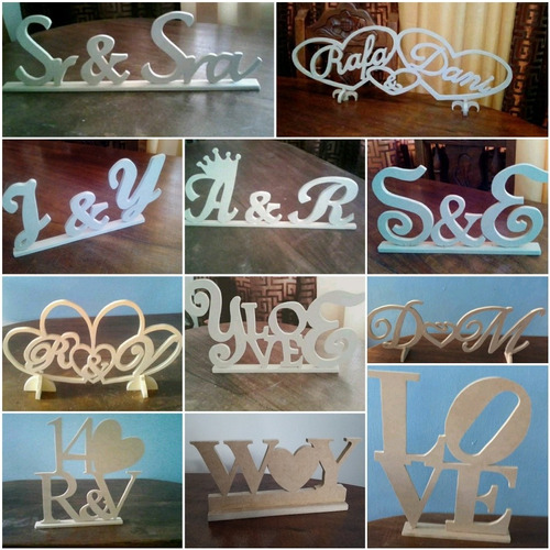 letras nombres en mdf crudo 9mm logos, figuras y números