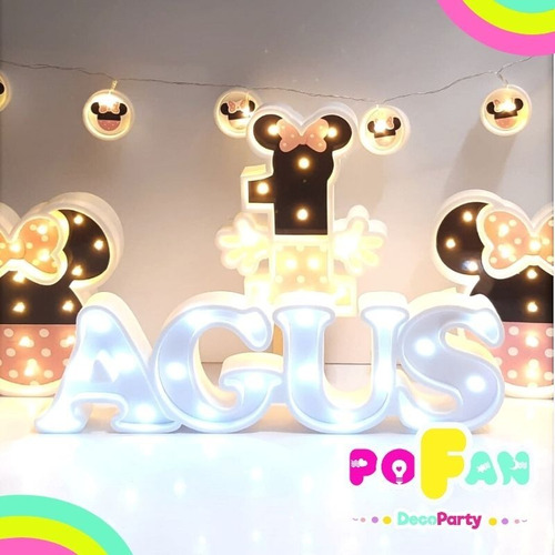 letras nombres luminosos led 6 letras candy bar polifan