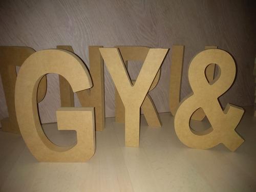 letras nombres madera mdf fibrofacil 20cm 18mm espesor
