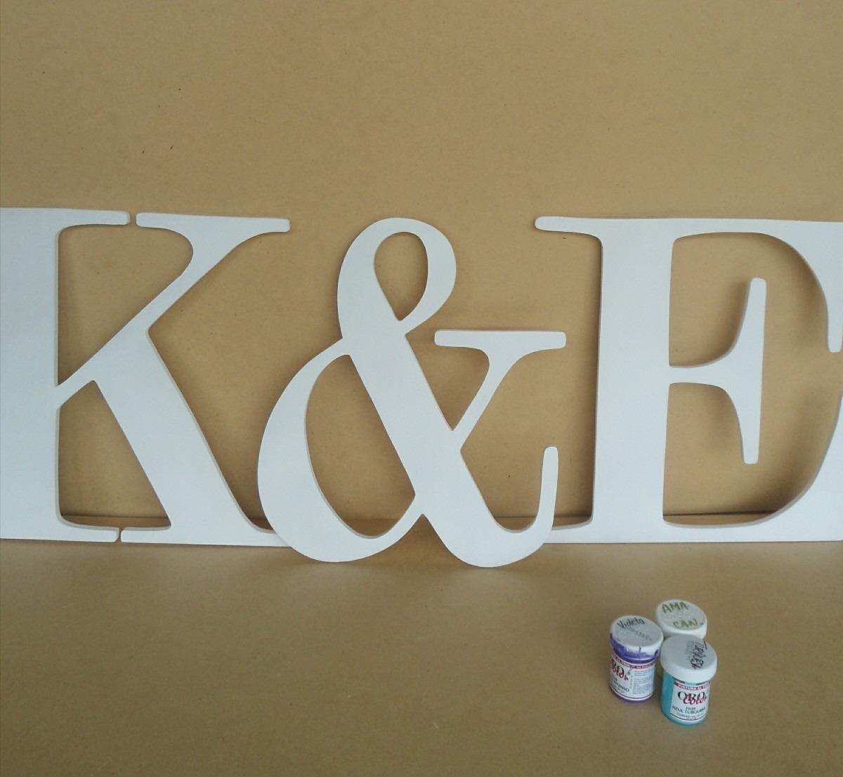 Letras nombres mdf madera candy bar bodas decorar en - Casa letras madera ...