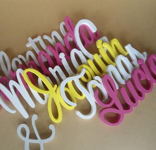 letras nombres mdf madera candy bar bodas decorar
