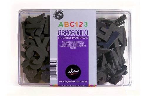 letras numeros  imantado magnetico bitacora caja clap