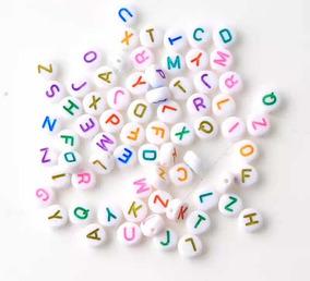 9fca9db67c2c Letras Para Bisutería Pulseras Abecedario 100 Piezas Colores