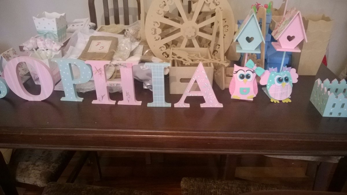 Letras para cumplea os decoradas 130 00 en mercado libre - Letras bebe decoracion ...
